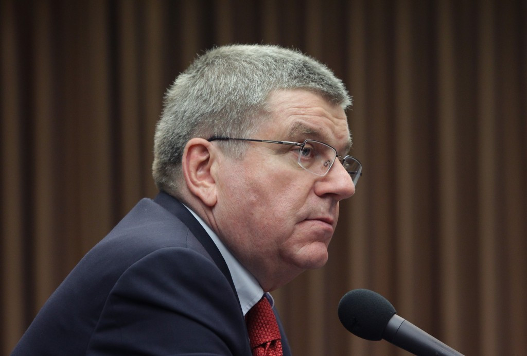 Thomas Bach will attend the World Olympians Forum ©Getty Images
