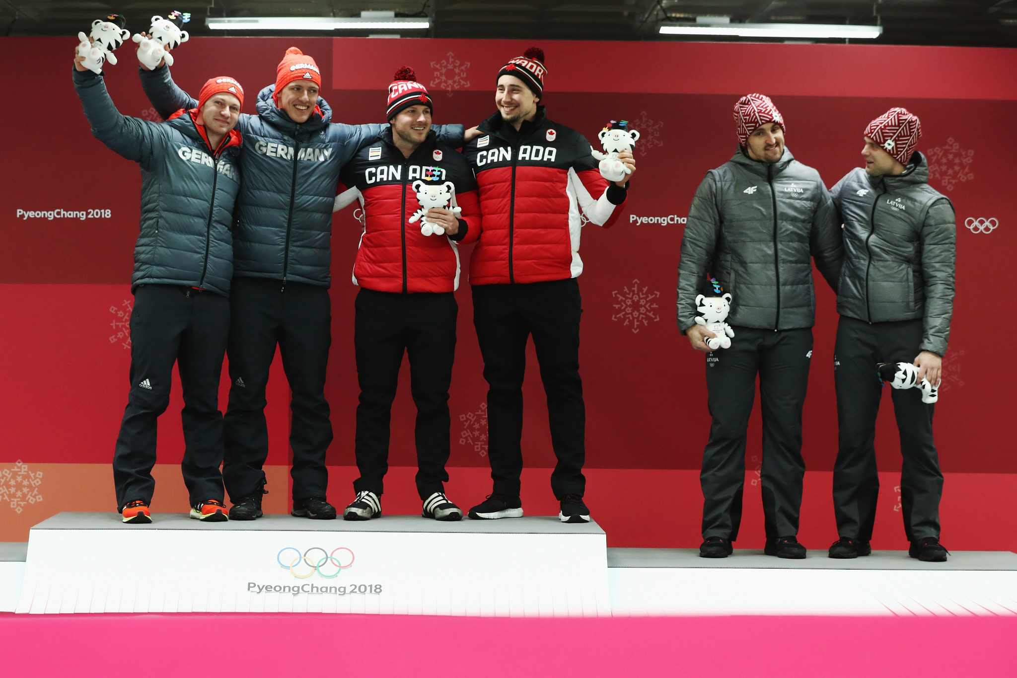 Canada and Germany share gold medal at Pyeongchang 2018 in dramatic two-man bobsleigh event