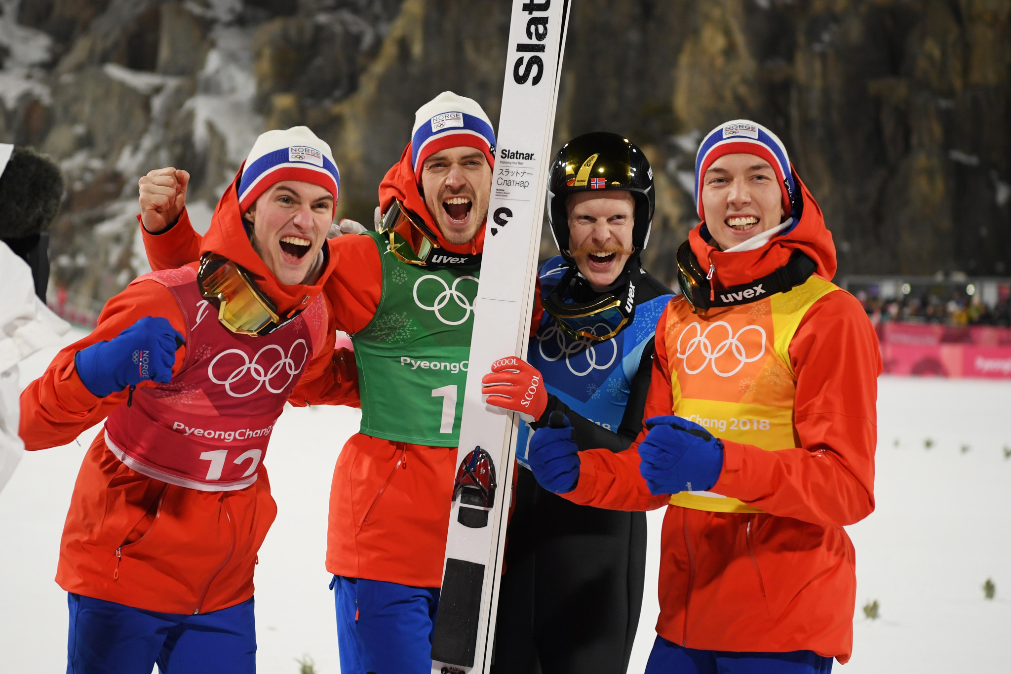 Norway win men's team event gold on last day of Pyeongchang 2018 ski jumping competition
