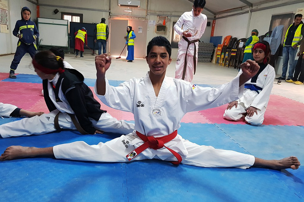 The THF Taekwondo Academy was built to help improve the lives of children in the Azraq Refugee Camp ©THF