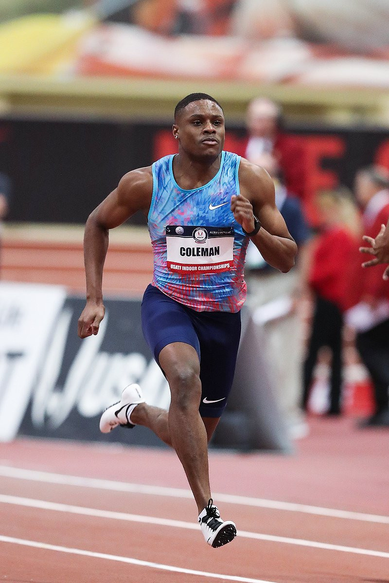 Coleman breaks 60m world record at US Indoor Championships