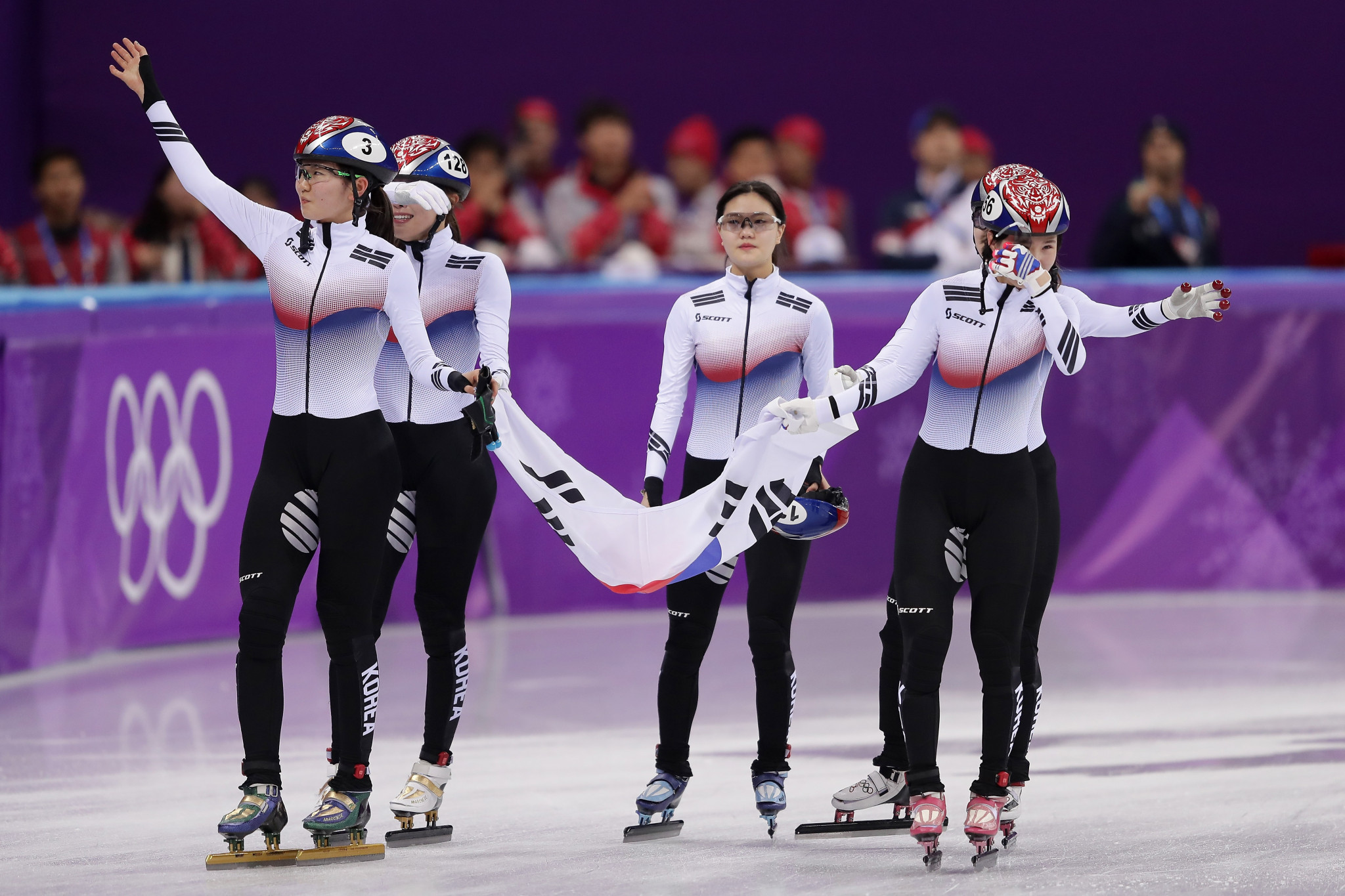Hosts South Korea win women's short track relay at Pyeongchang 2018 as Italians and Dutch profit from disqualifications