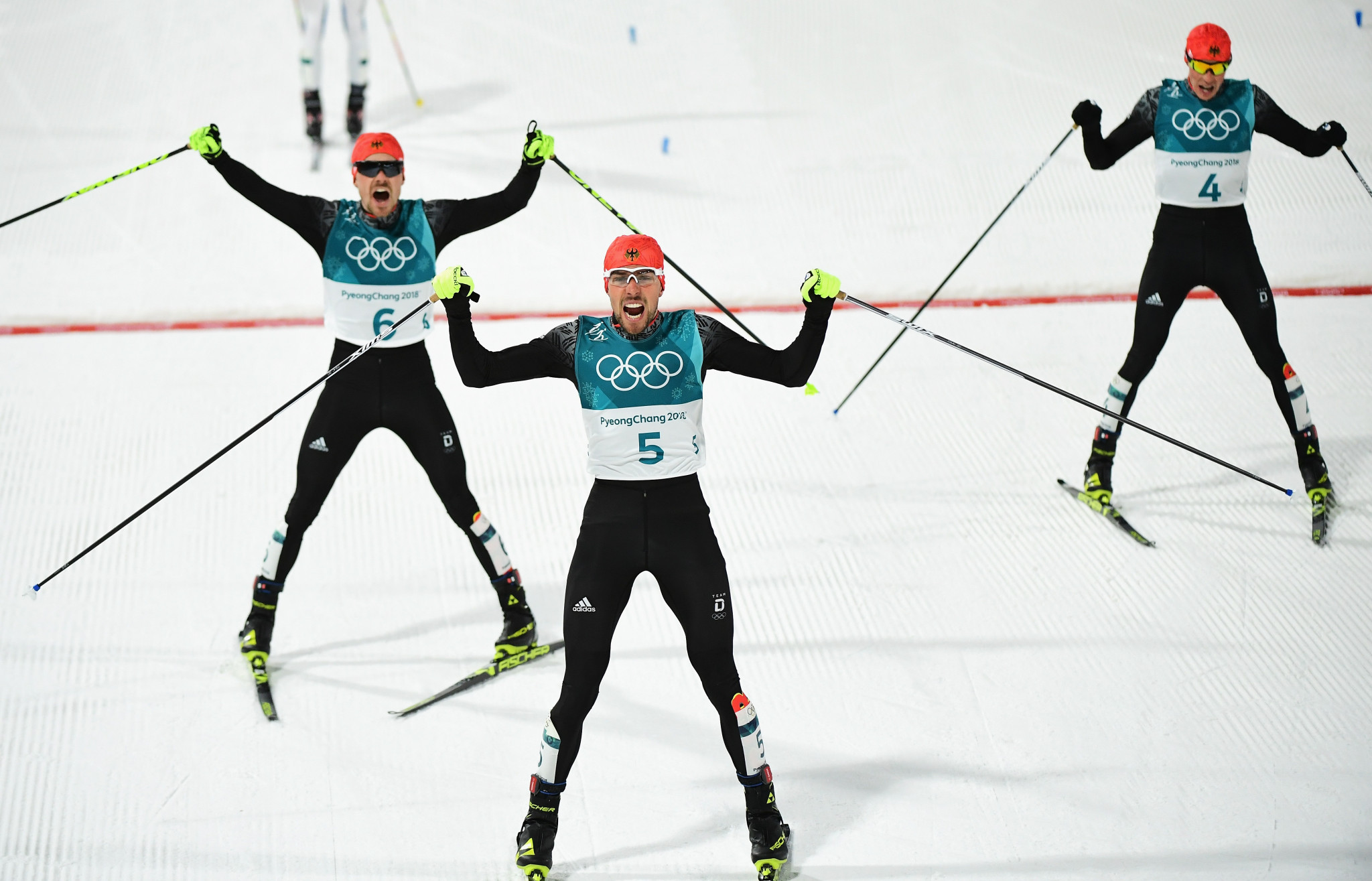 Rydzek leads Nordic combined podium sweep for Germany at Pyeongchang 2018