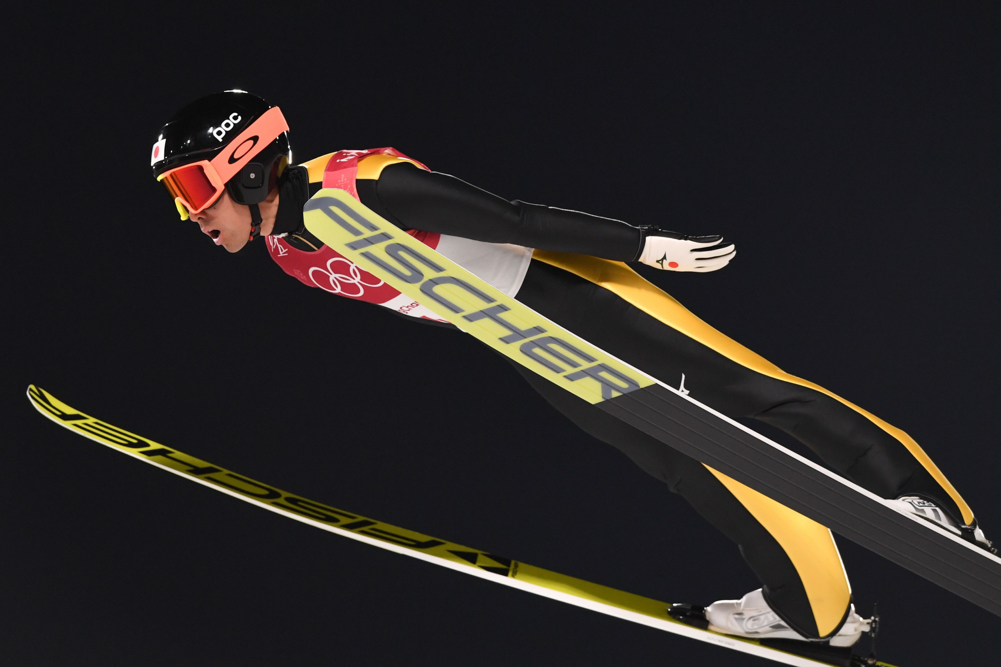Japan's Akito Watabe won the ski jumping segment, but finished fifth overall ©Getty Images