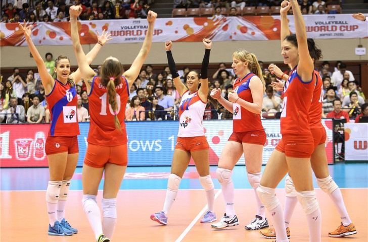 Serbia came out on top in a five-set epic against Japan
