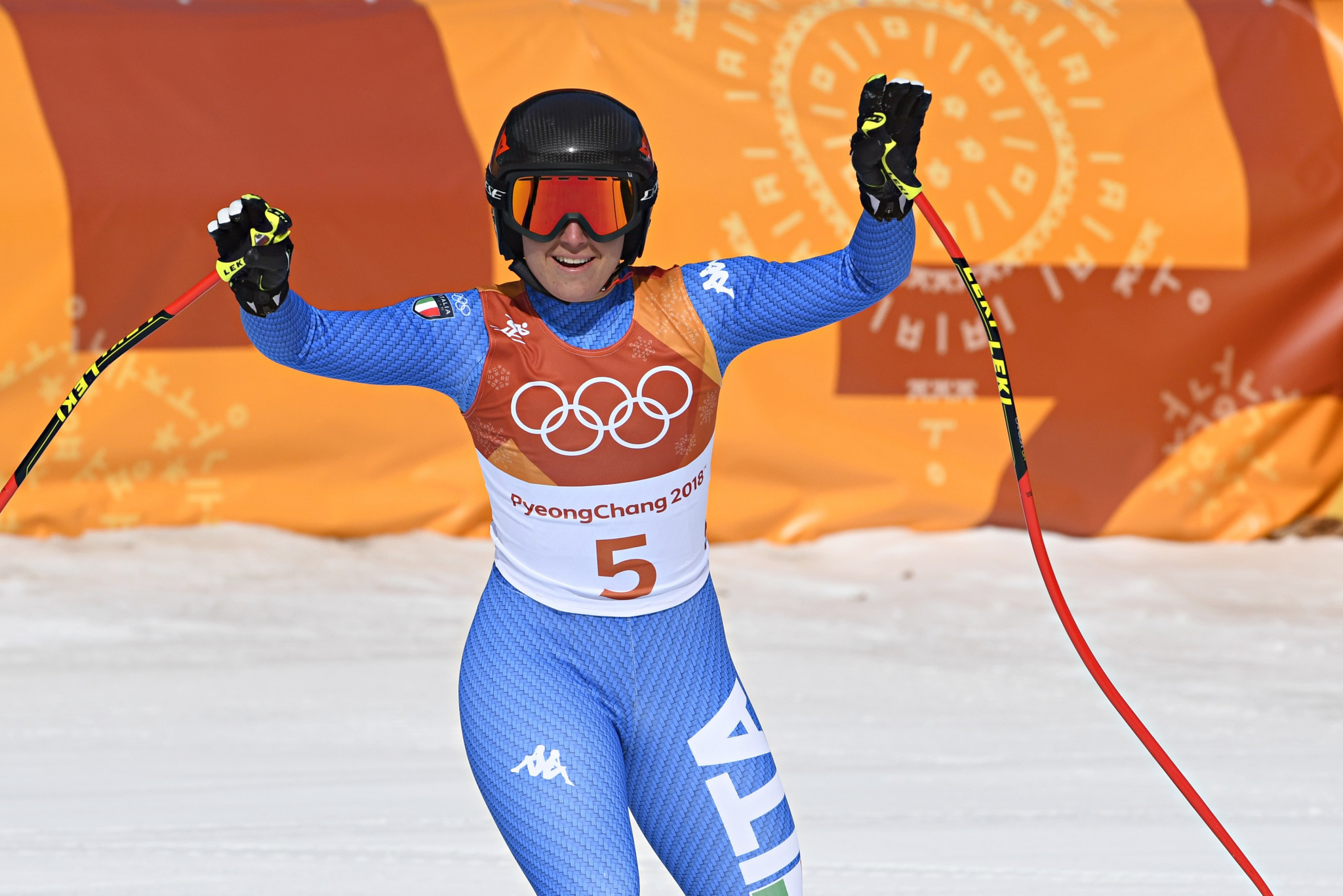 Sofia Goggia became the first Italian to win the Olympic women's downhill gold medal at Pyeongchang 2018 today ©Getty Images