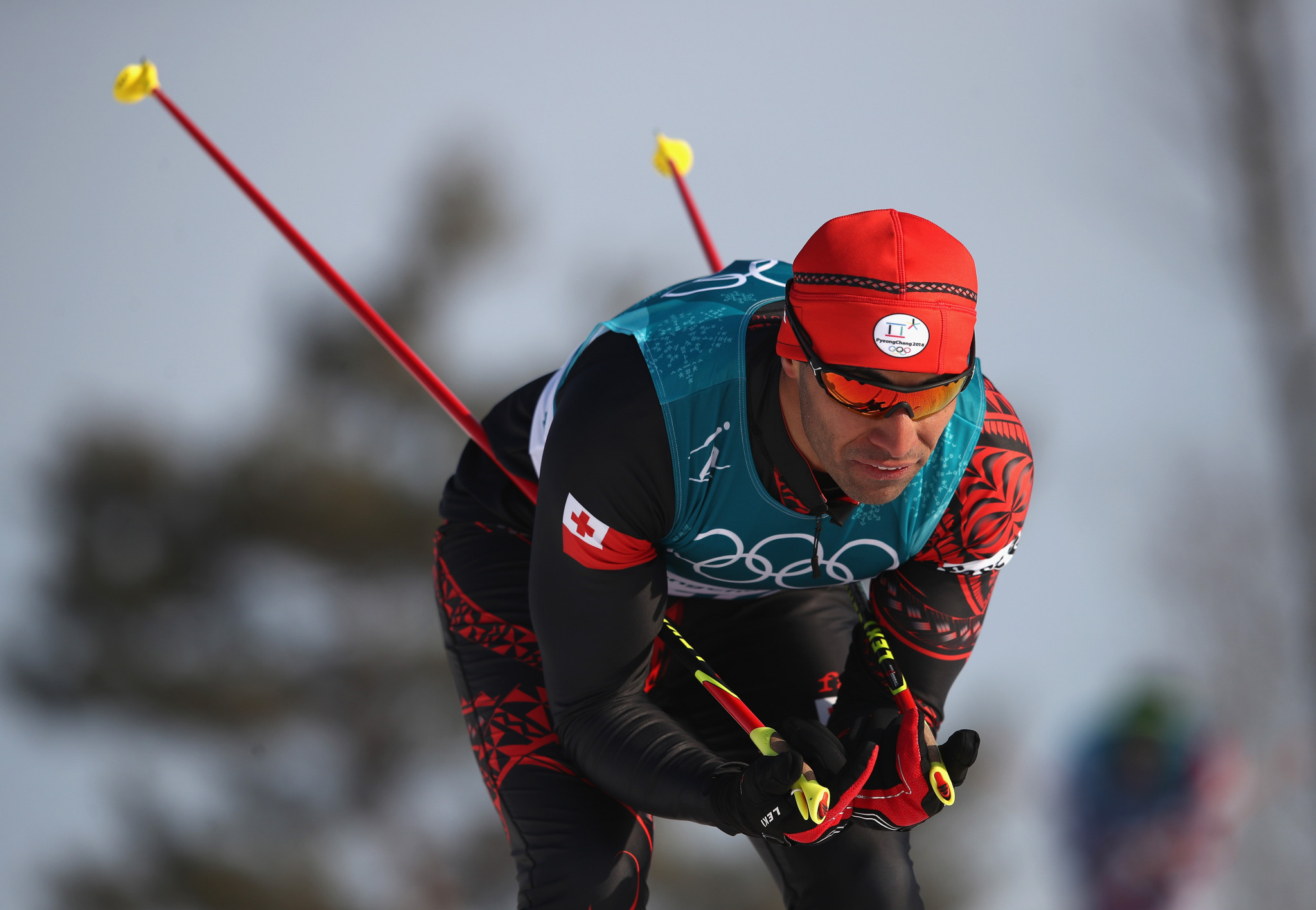 Pita Taufatofua is competing in the cross-country skiing event at Pyeongchang 2018 ©Getty Images