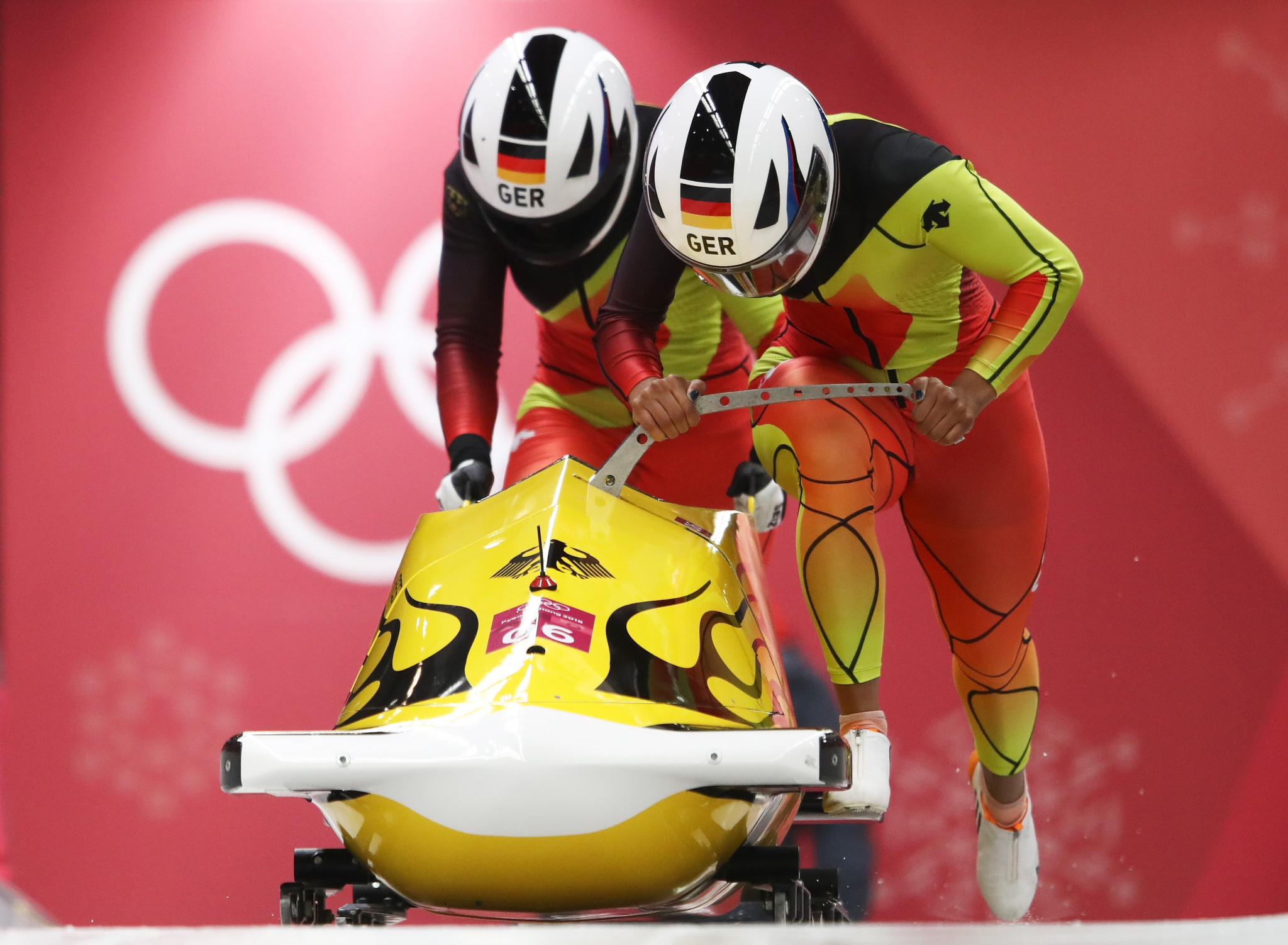 Lisa Buckwitz and Mariama Jamanka won the women's bobsleigh event ©Getty Images