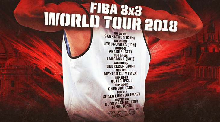 FIBA announce expansion of 3x3 World Tour