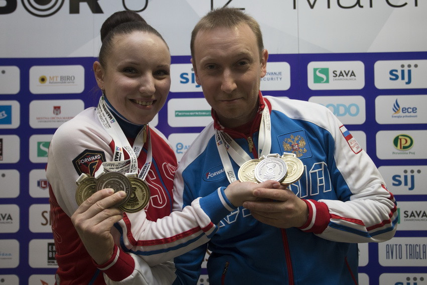 Russians dominate proceedings at European Shooting Championships
