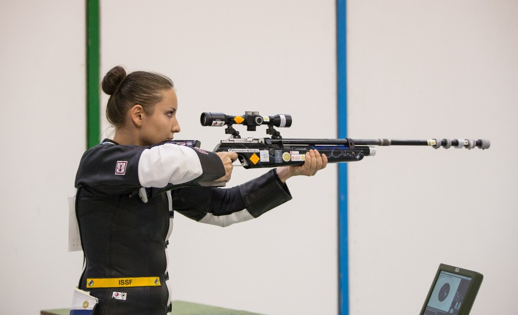 Olga Stepanova has won three medals in two days at the European Shooting Championships ©Flickr