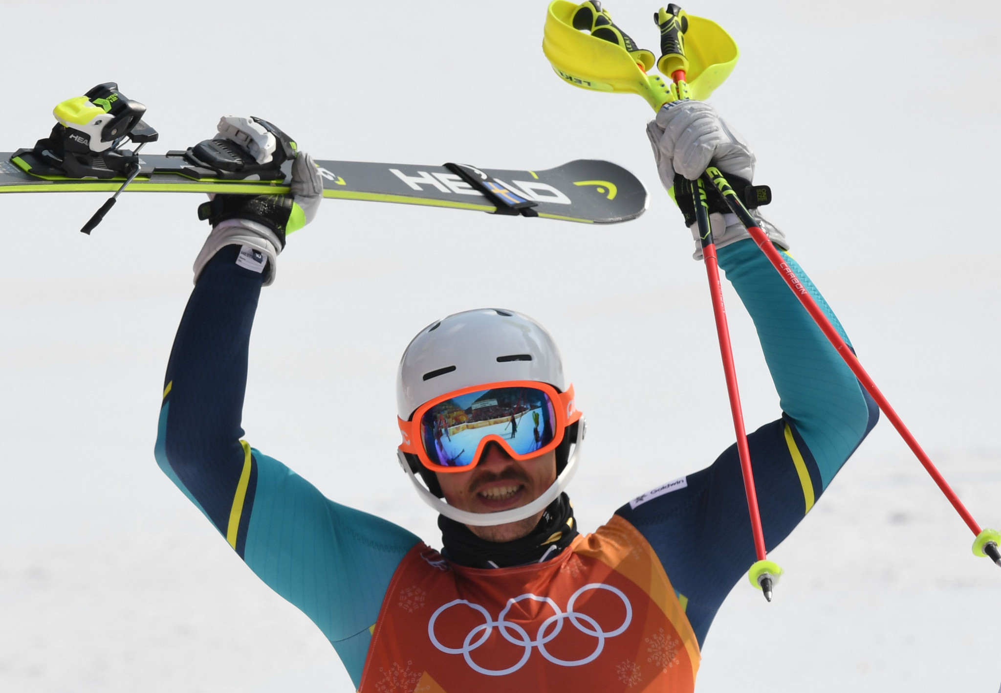 Sweden's Myhrer claims surprise men's slalom Olympic gold at Pyeongchang 2018