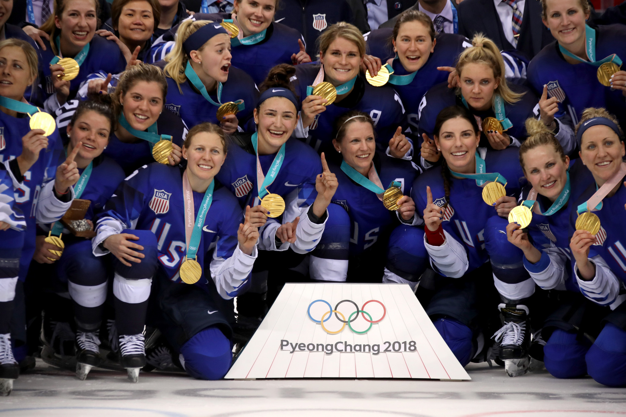 The United States had not won the women's ice hockey gold medal since the inaugural tournament at Nagano 1998 ©Getty Images