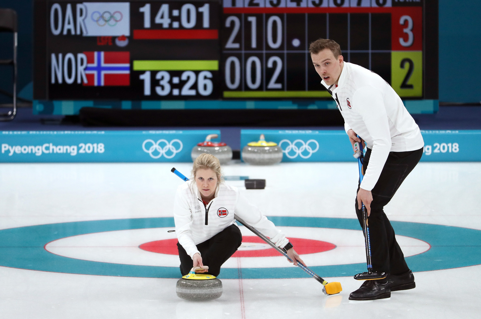 Kristin Skaslien and Magnus Nedregotten of Norway are due to be upgraded to the bronze medal