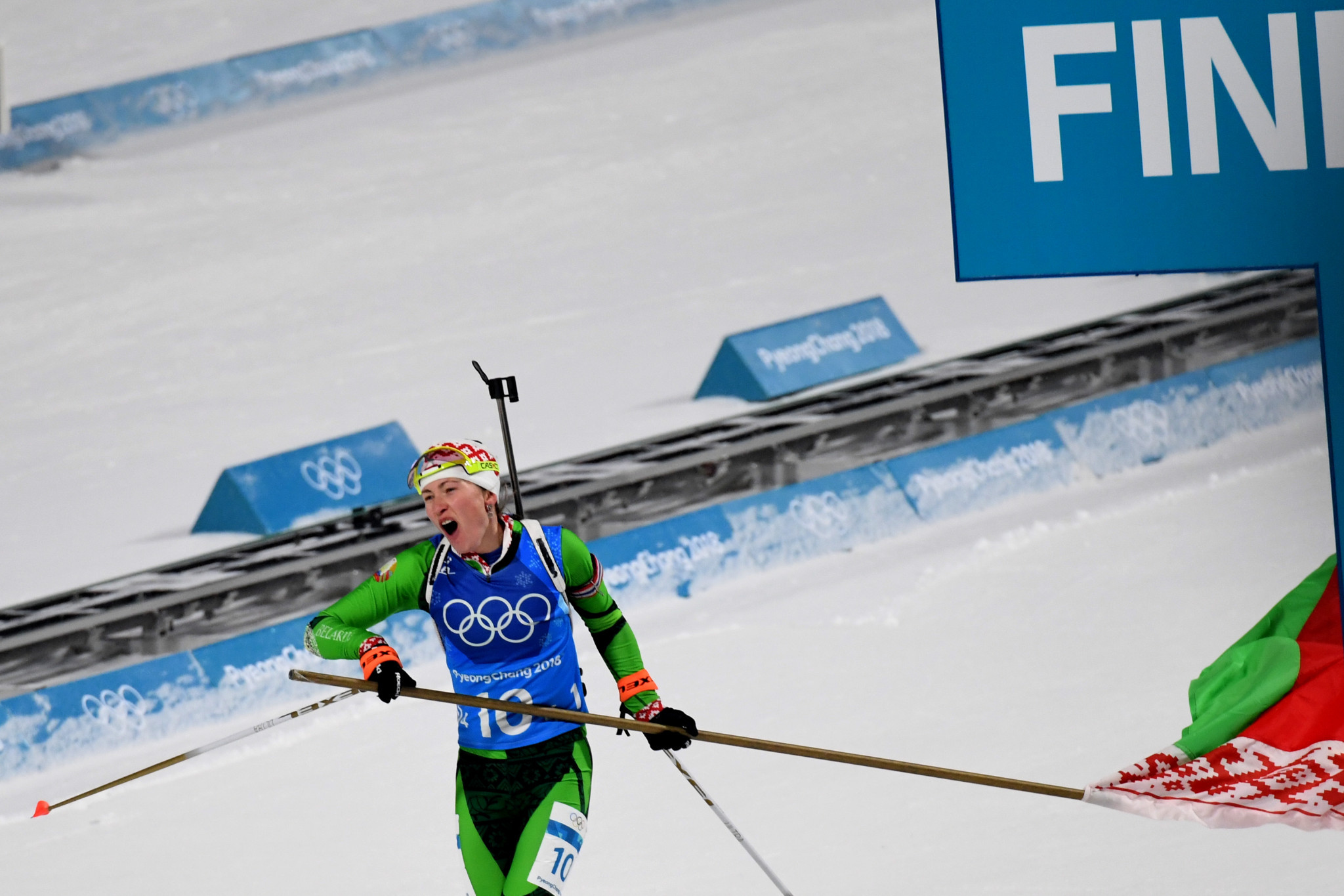 Darya Domracheva spearheaded Belarus to victory in the women's 4x6 kilometres relay ©Getty Images