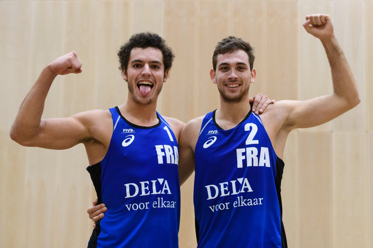Maxime Thiercy and Arnaud Gauthier-Rat are hoping experience gained in Iran will help them at Paris 2024 ©French Volleyball
