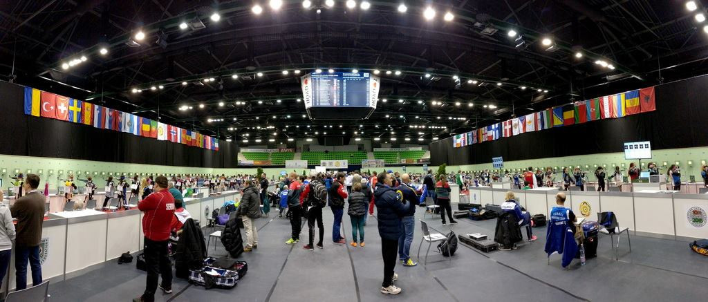 The tournament is being hosted at the Audi Aréna in Györ ©European Shooting Confederation