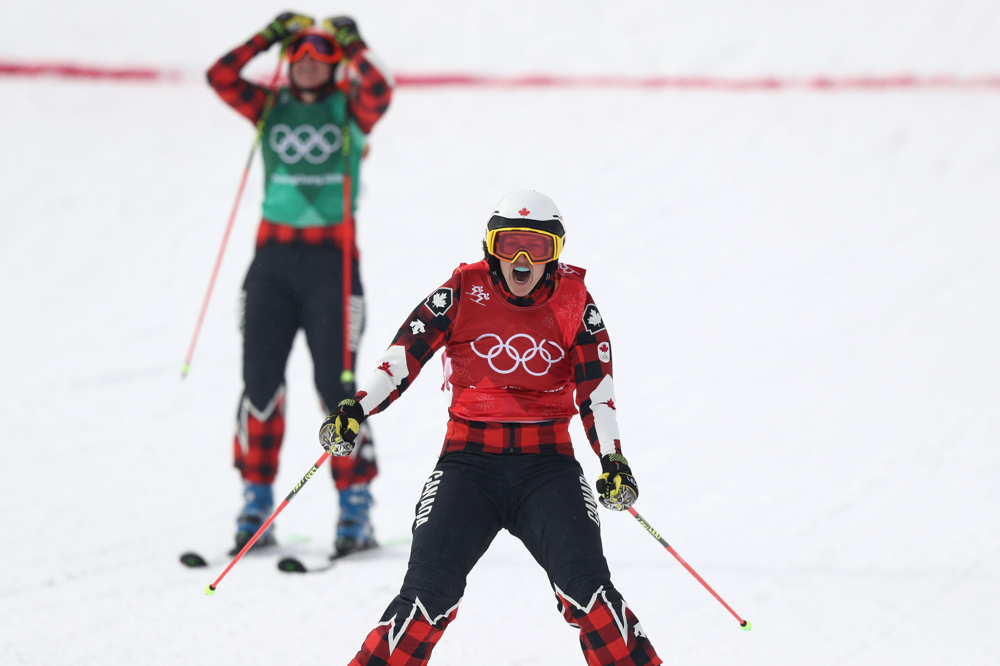 Canadian upgrades from Sochi 2014 silver to Pyeongchang 2018 gold in bad-tempered women's ski cross