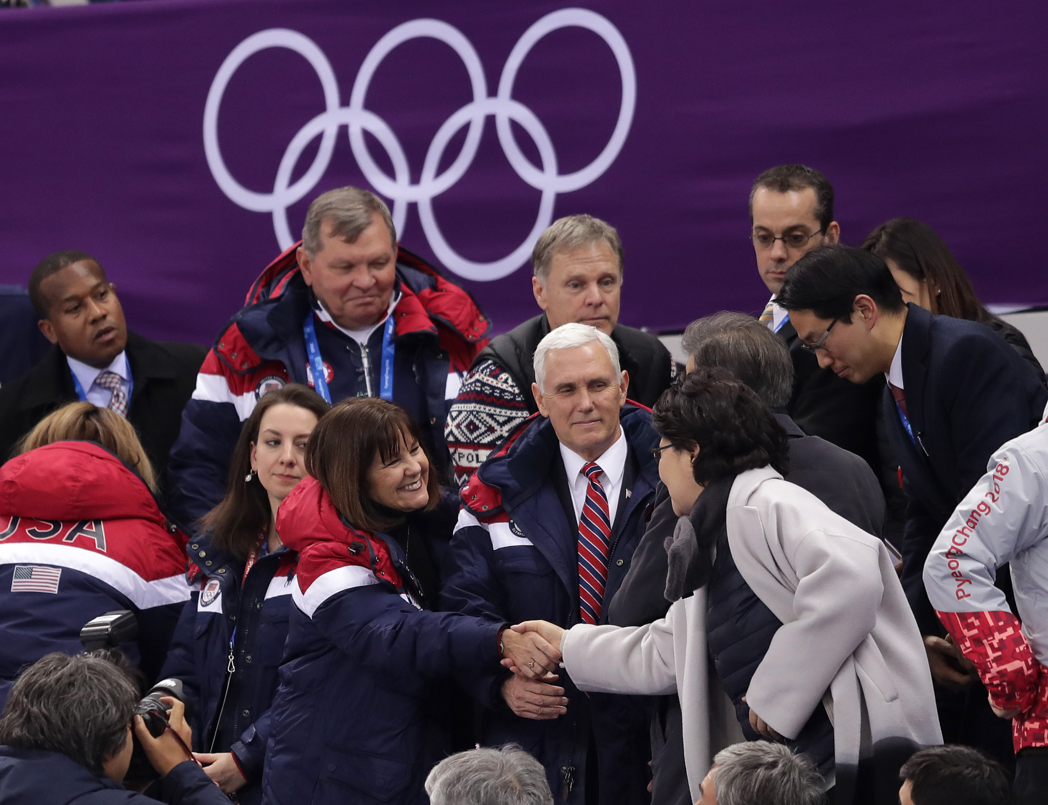 Mike Pence headed the US delegation at the Opening Ceremony of Pyeongchang 2018 ©Getty Images