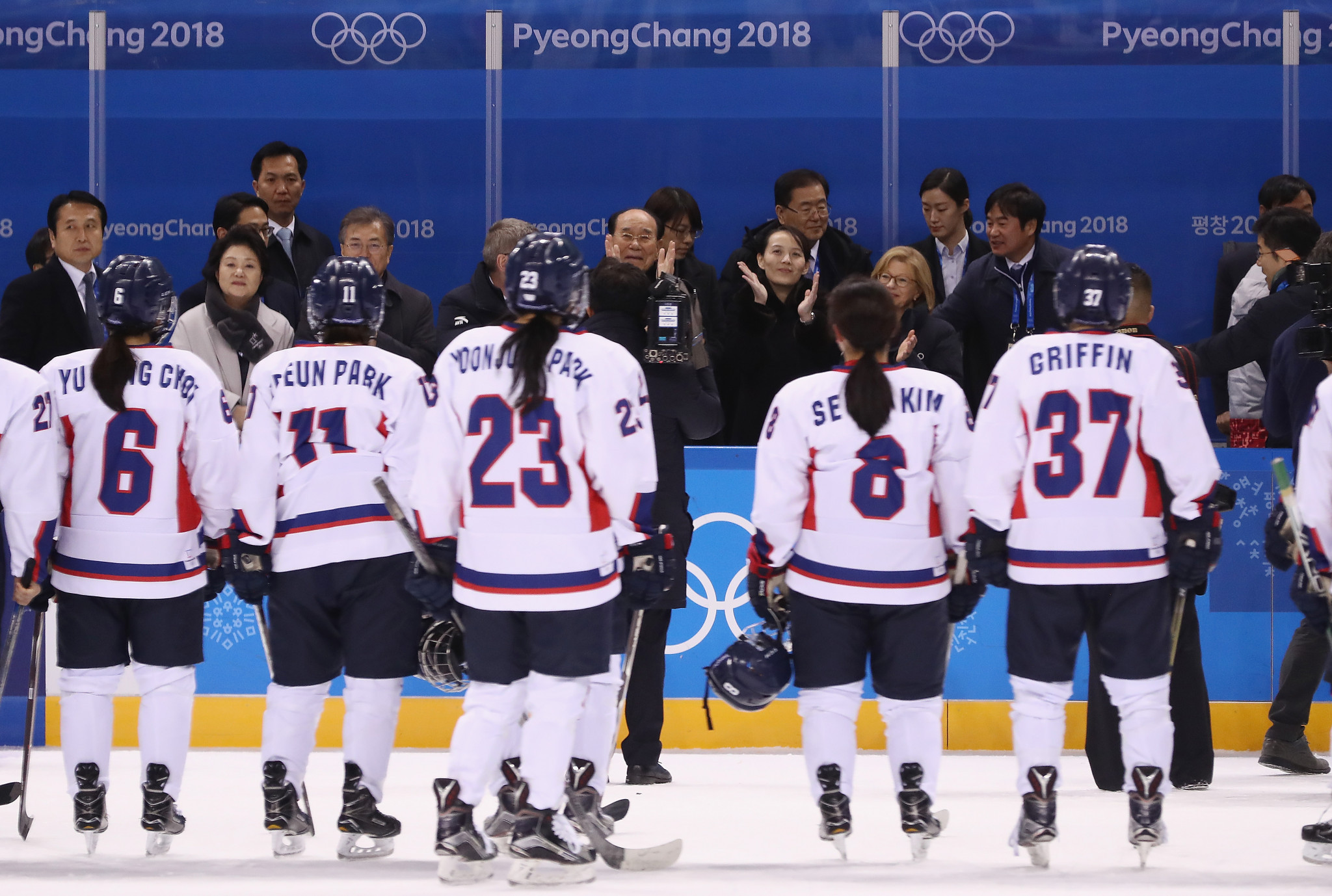 A film depicting the unified Korean women's ice hockey team which competed here at Pyeongchang 2018 will be produced by the Olympic Channel ©Getty Images