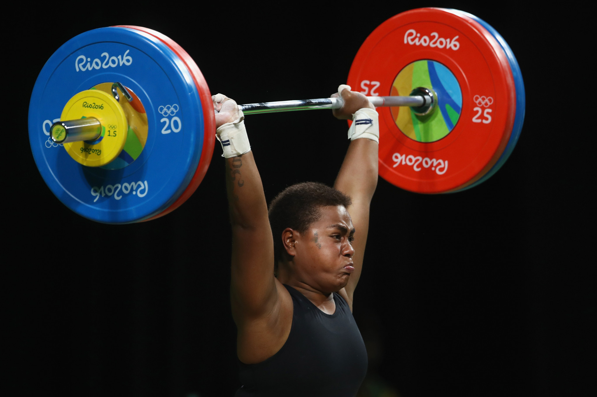 Apolonia Vaivai claimed Fiji's only medal at Glasgow 2014 ©Getty Images
