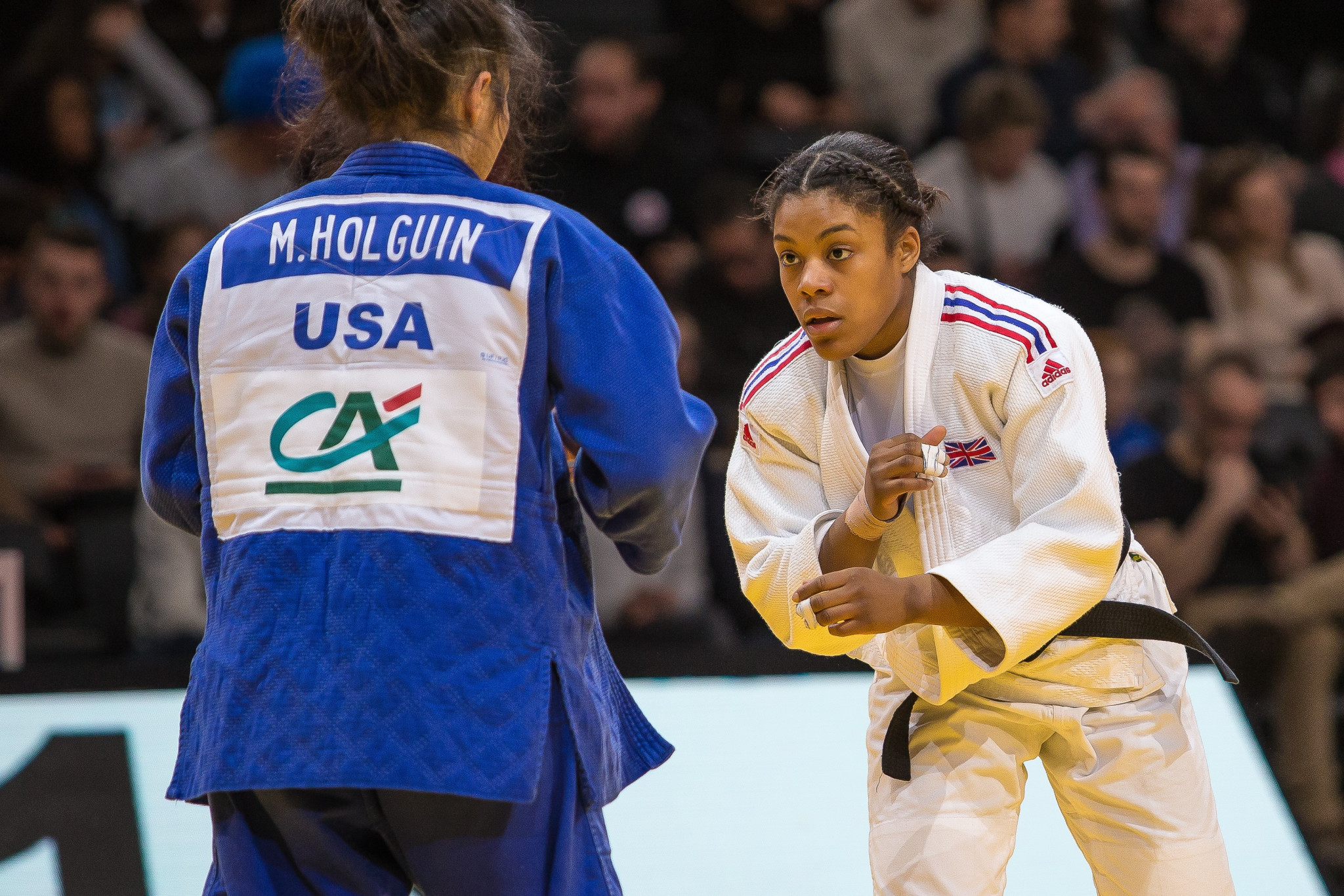 Nekoda Smythe-Davis won gold in the women's 57kg division ©British Judo