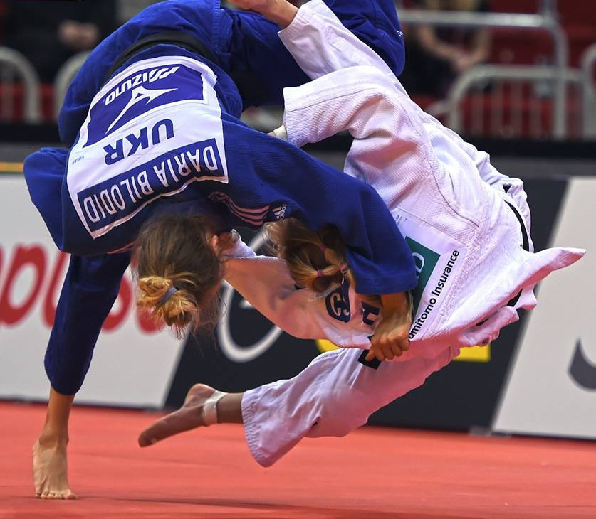 Daria Bilodid continued her fine start to 2018 with another gold medal ©IJF