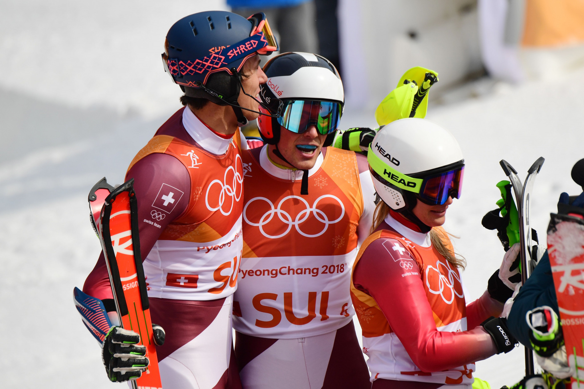 Switzerland win first-ever Olympic Alpine team event title at Pyeongchang 2018