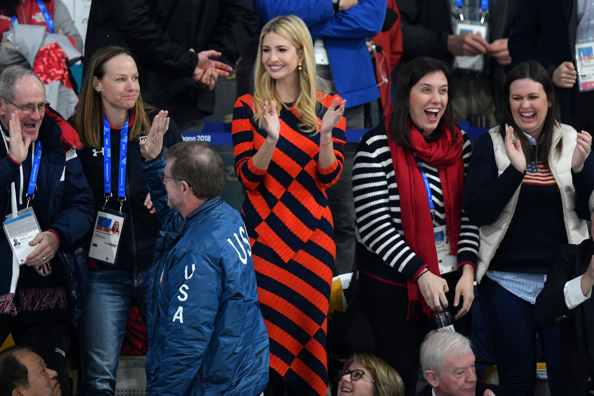 Ivanka Trump applauds after the United States sealed their victory ©Getty Images