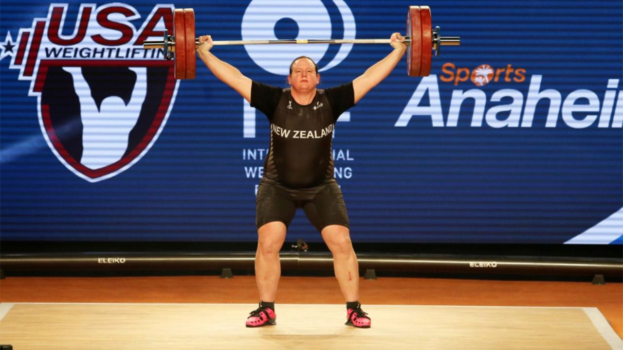 Laurel Hubbard won a silver medal in the over 90kg category at the 2017 World Championships in Anaheim ©IWF