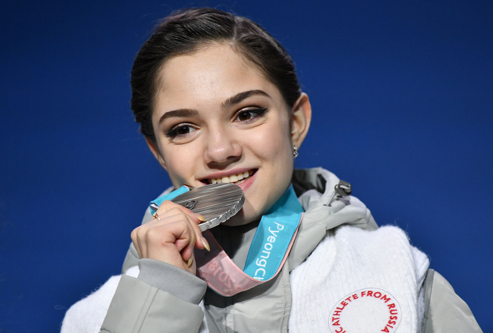 Russia's Olympic skating silver medallist Evgenia Medvedeva appeared at the IOC Executive Board meeting to appeal for her country to be allowed to march under its own flag at the Closing Ceremony of Pyeongchang 2018 ©Getty Images