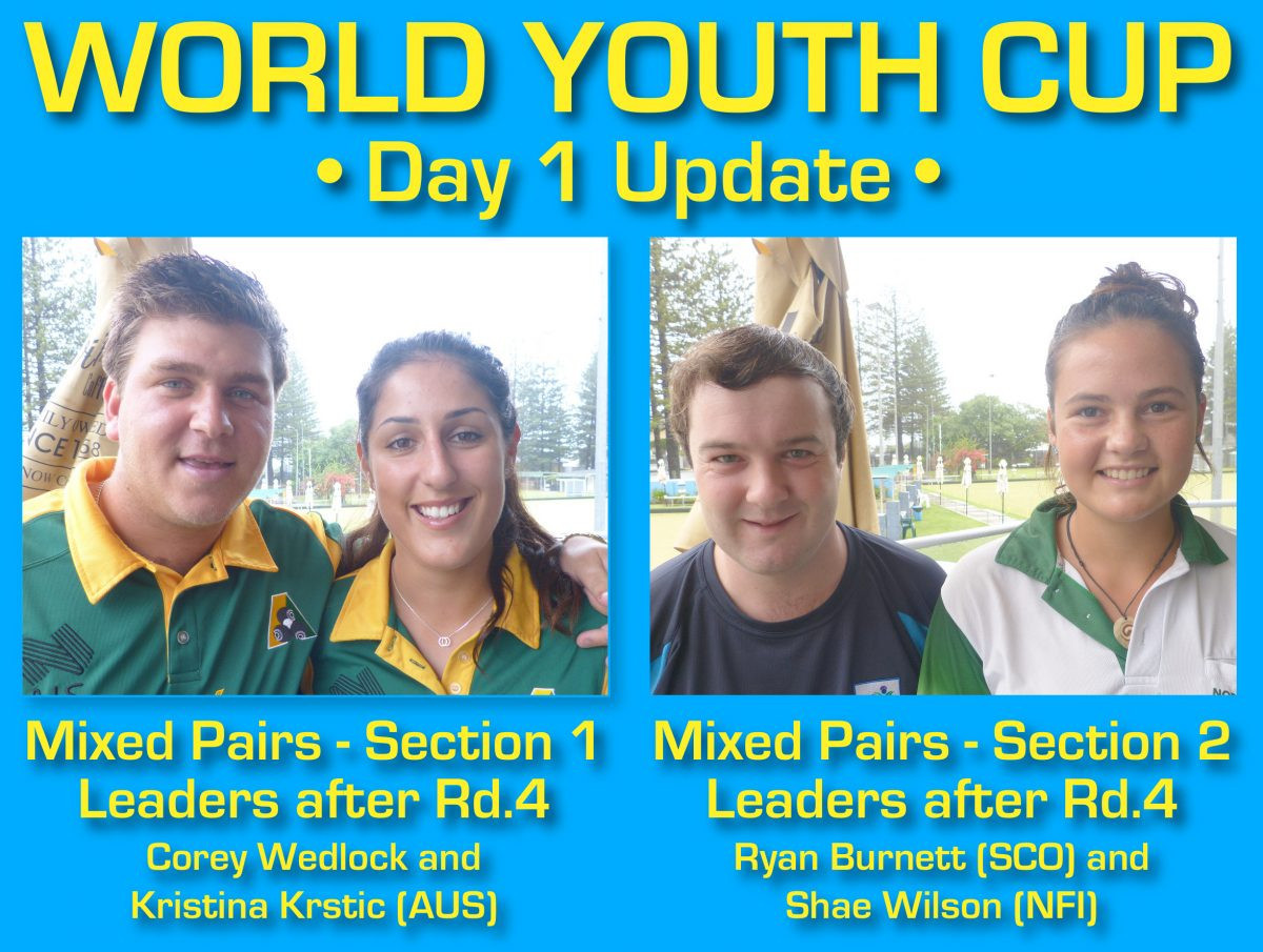 Home pairing make strong start to World Youth Bowls Championships