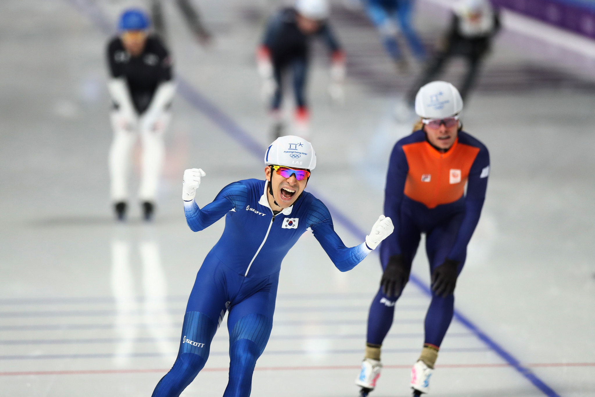 Speed skater secures record-breaking medal for hosts as mass start event makes Olympic debut