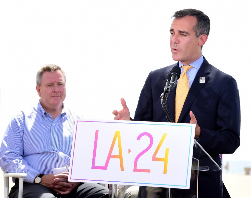 Los Angeles officially launches bid to host 2024 Olympic and Paralympic Games