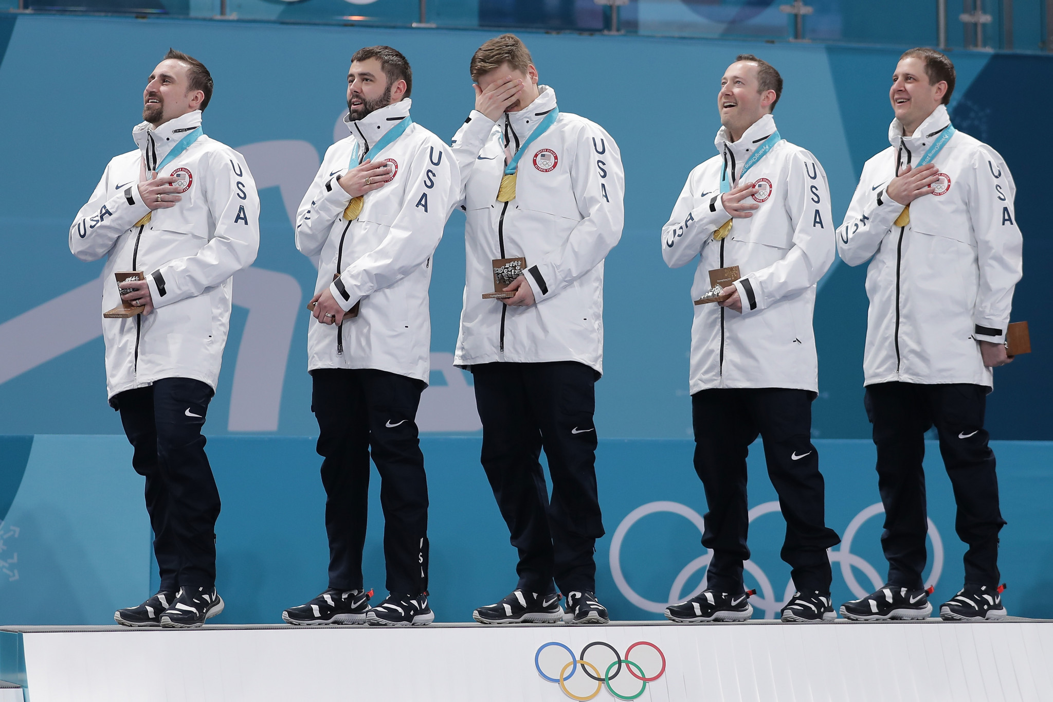 The United States beat Sweden 10-7 to claim their first-ever Olympic men's curling title on day 15 of Pyeongchang 2018 ©Getty Images