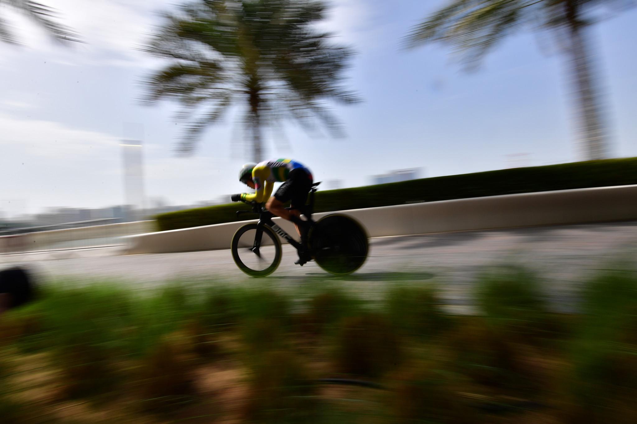 Dennis takes Abu Dhabi Tour race lead after time trial triumph