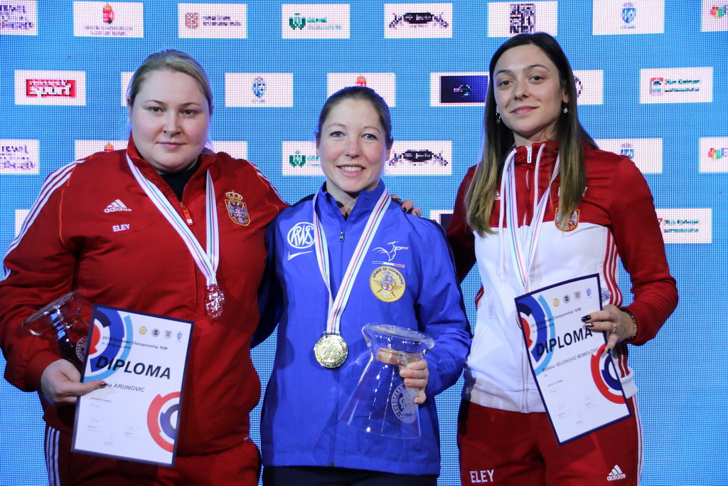 The women's air pistol final proved the highlight of the penultimate day ©ESC