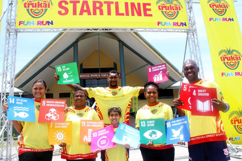 Sustainable development goals were promoted during the launch ©PNGOC