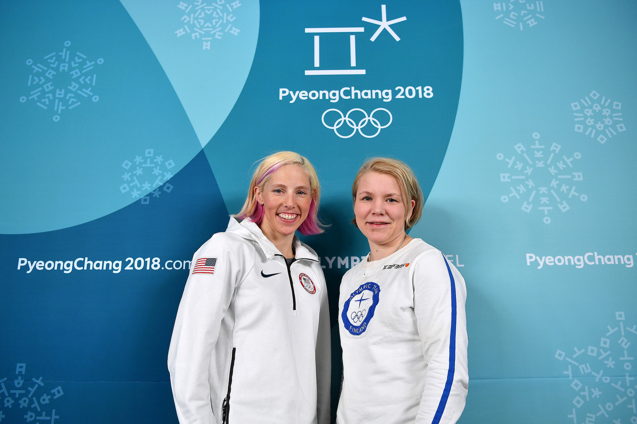 Emma Terho and Kikkan Randall were also sworn in as IOC members following the Athletes' Commission election ©IOC