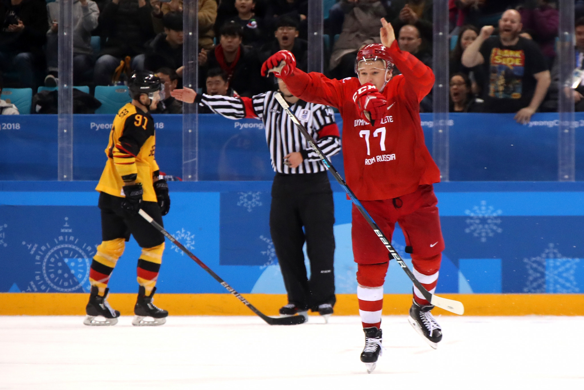 Kirill Kaprizov scored an overtime winner as the Olympic Athletes from Russia claimed victory over Germany in the men's ice hockey final here at Pyeongchang 2018 ©Getty Images