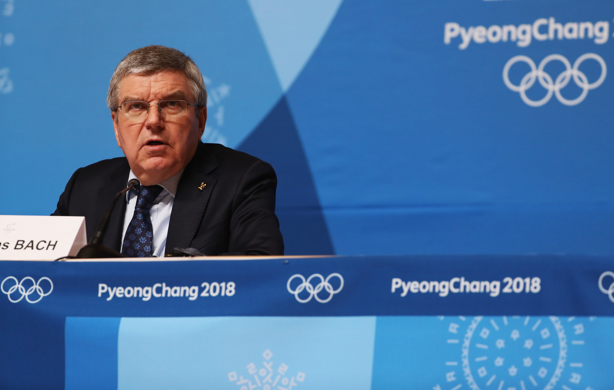 Thomas Bach also addressed the role that IFs must play in continuing cases against Russia ©Getty Images