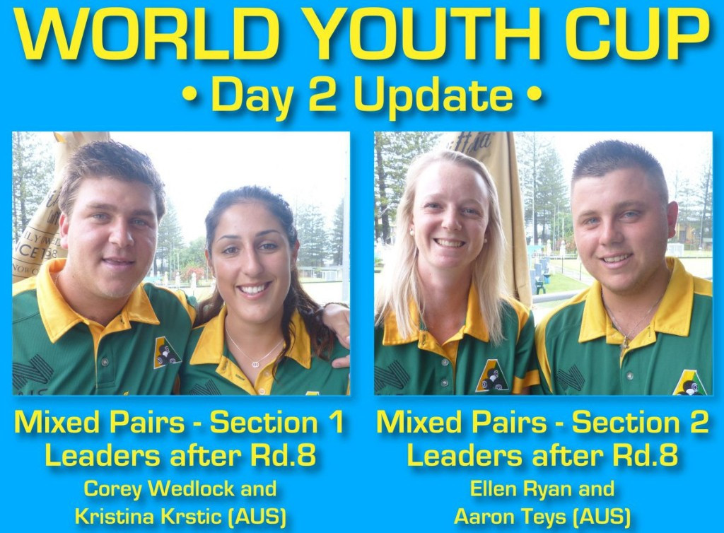 Wedlock and Krstic remain on top at World Youth Bowls Championships