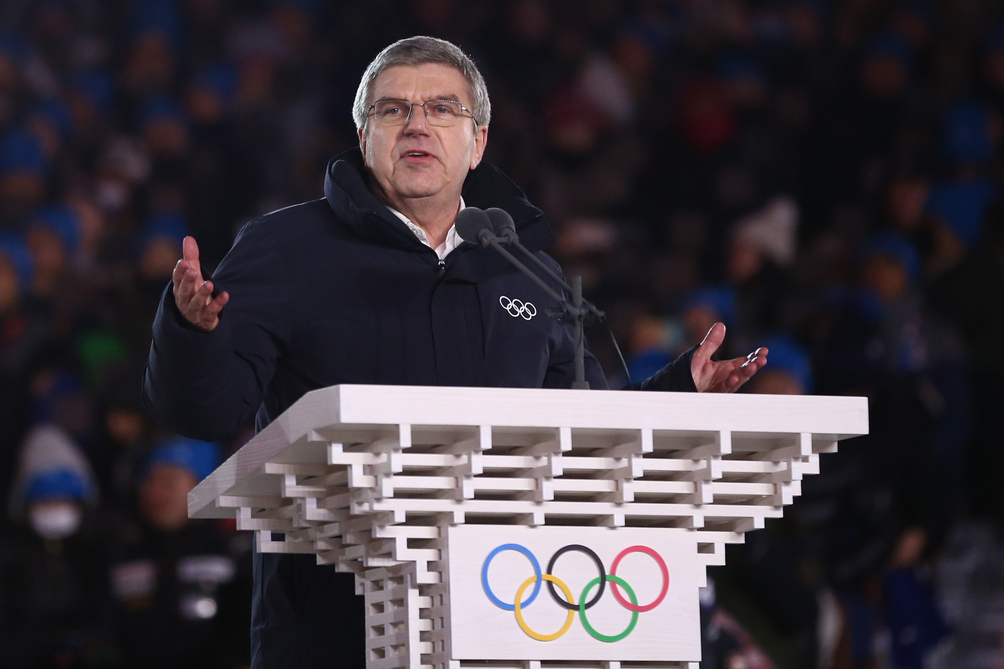 IOC President Thomas Bach officially declared the Pyeongchang 2018 Winter Olympics closed ©Getty Images