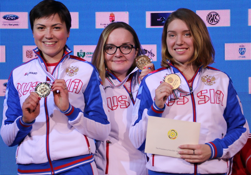 Russia continued their dominance on the final day of the European Shooting Championships ©ESC