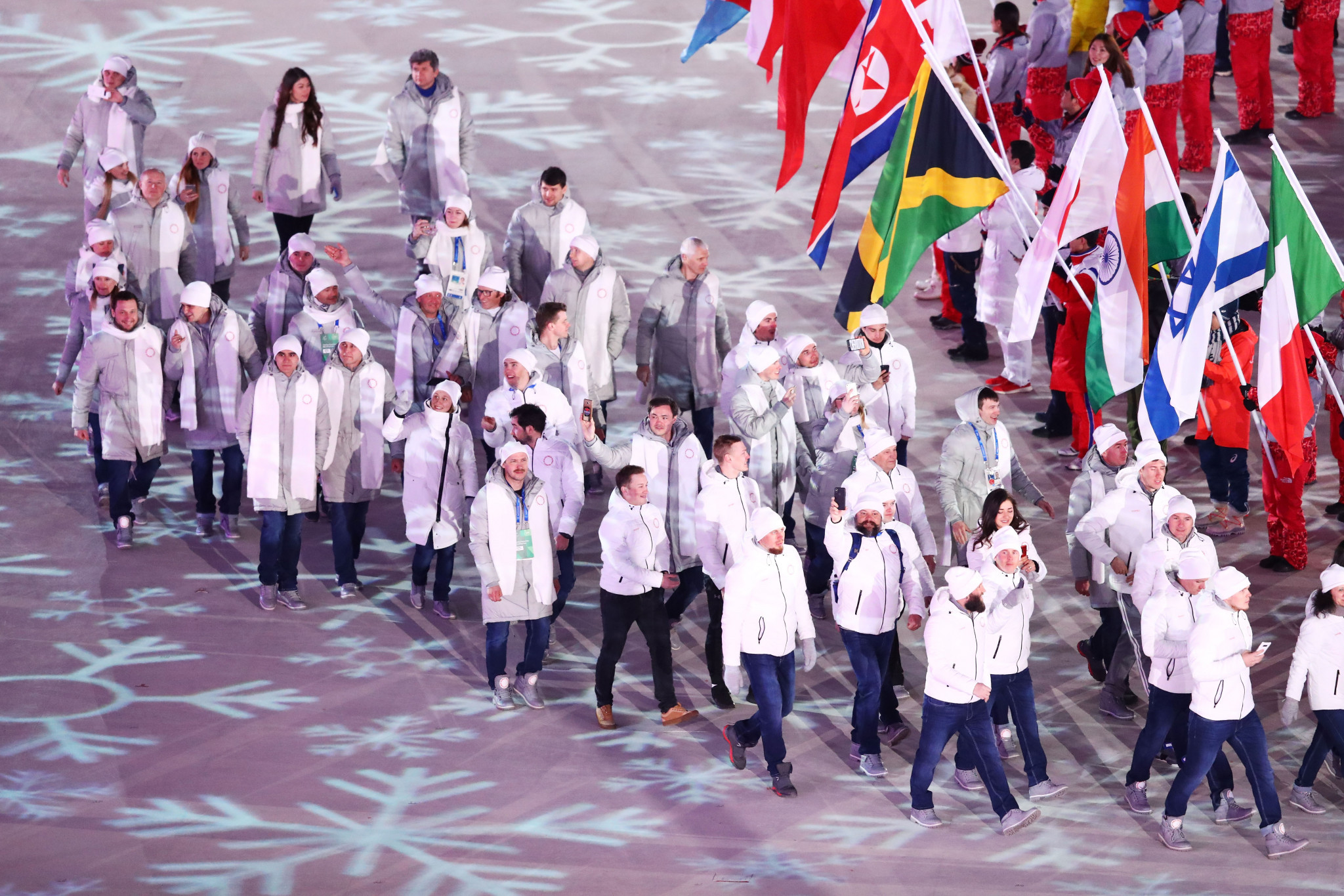 The OAR delegation's behaviour at Pyeongchang 2018 should not be taken as a sign of genuine cultural change ©Getty Images