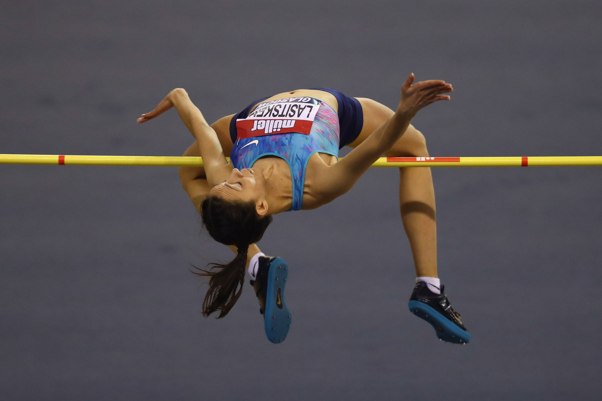 Russia's Mariya Lasitskene, competing as an Authorised Neutral Athlete, won the high jump at the IAAF World Indoor Tour event in Glasgow to continue her recent excellent form ©Getty Images