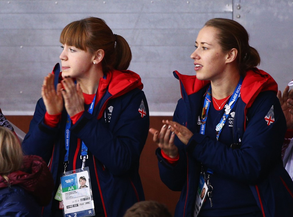 British curler Claire Hamilton, left, is among the ambassadors  ©Getty Images