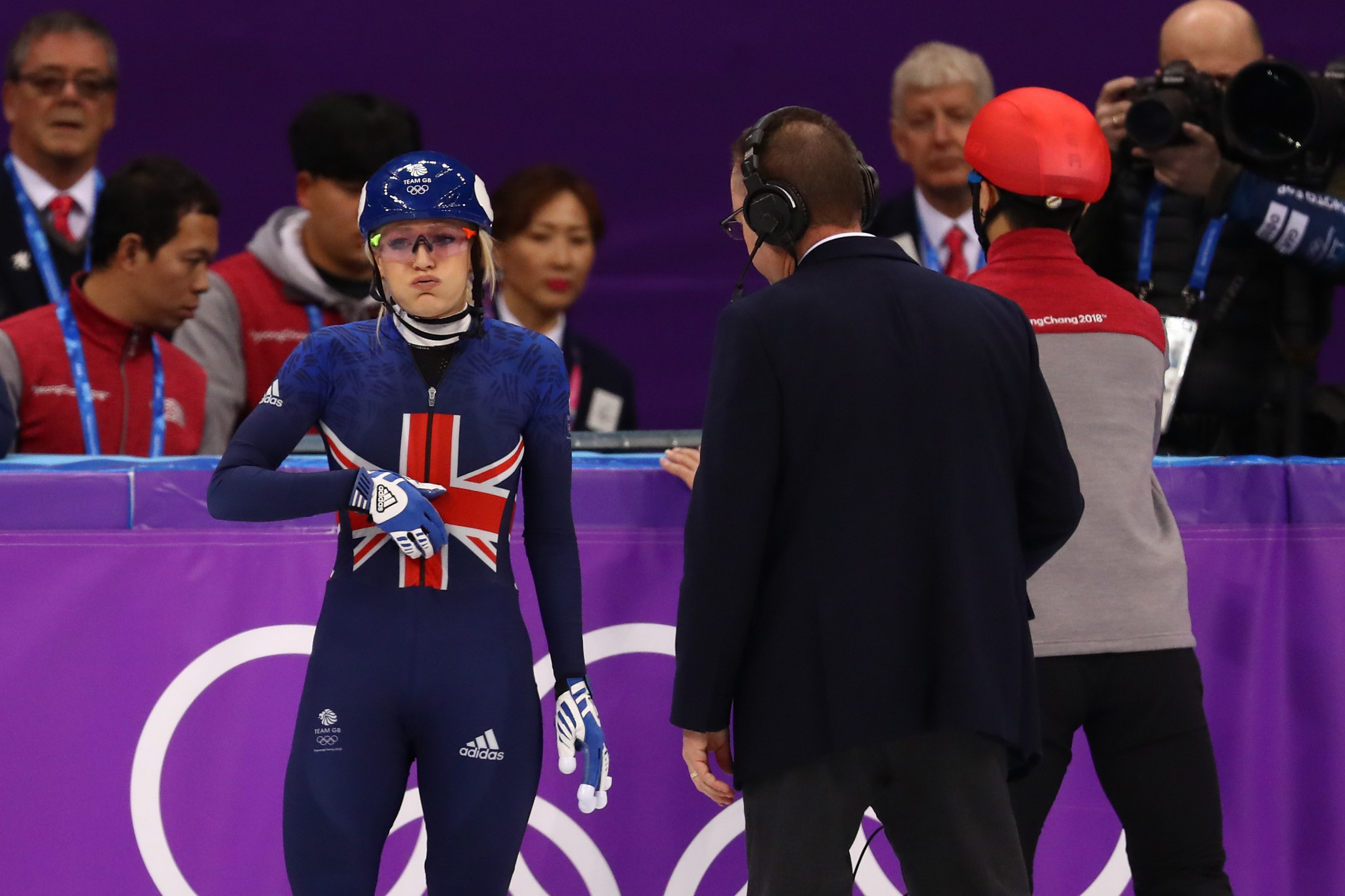 Elise Christie endured a second successive Olympic heartache in Pyeongchang ©Getty Images