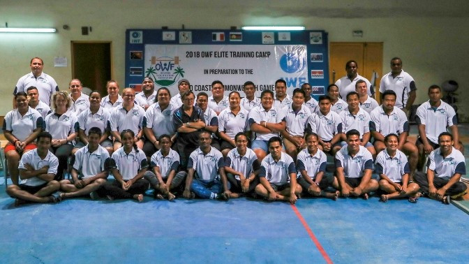 The OWF held a training camp to help local athletes' preparations for Gold Coast 2018 ©IWF