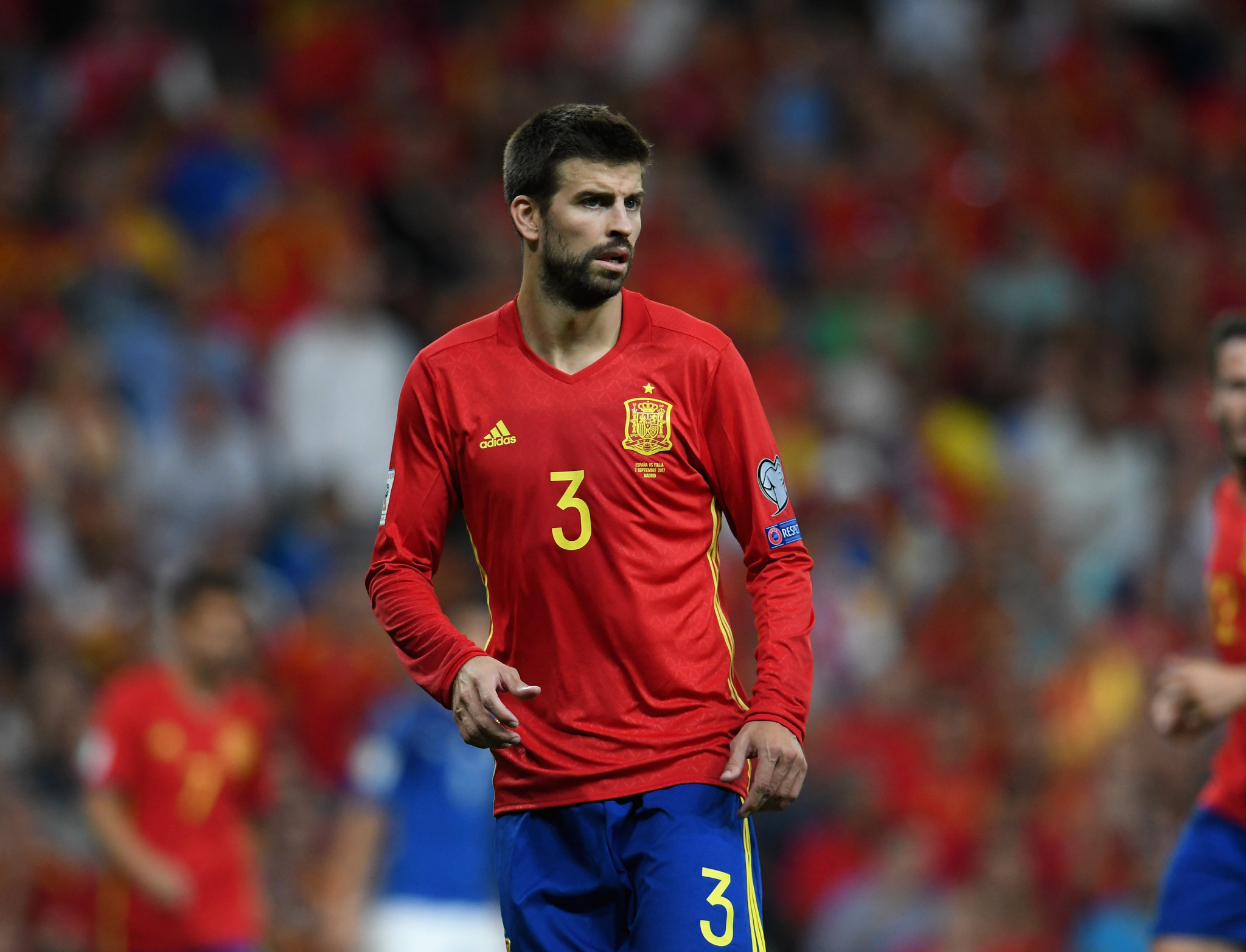 International footballer Gerard Pique is one of the people behind the new World Cup of Tennis tournament ©Getty Images